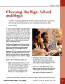 Choosing the right school and major